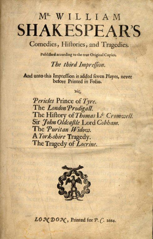 Third Folio Title Page