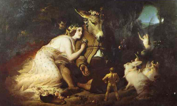 Scene From A Midsummer Night's Dream, Titania and Bottom